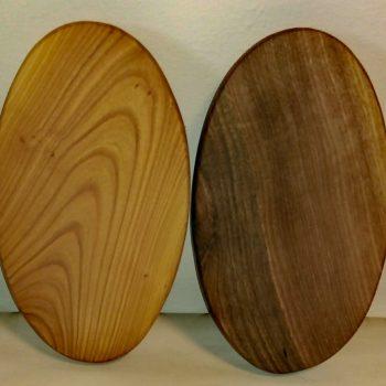 Ovalna deska manjša, oreh ali češnja